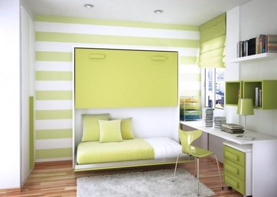 интерьер детской комнаты желтый