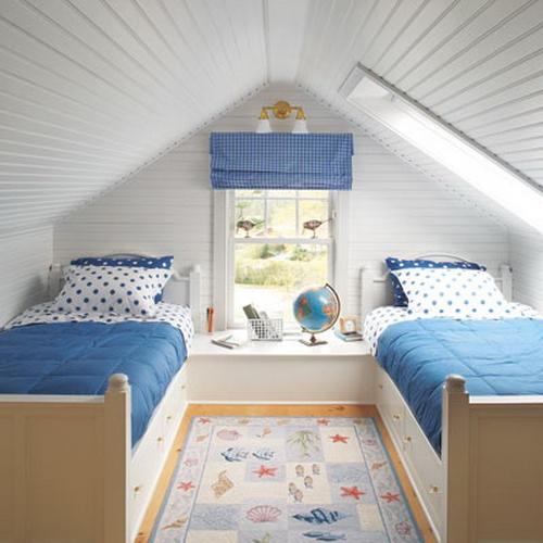 интерьер детской комнаты синий