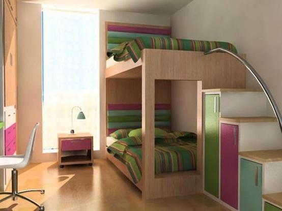 интерьер детской комнаты дерево