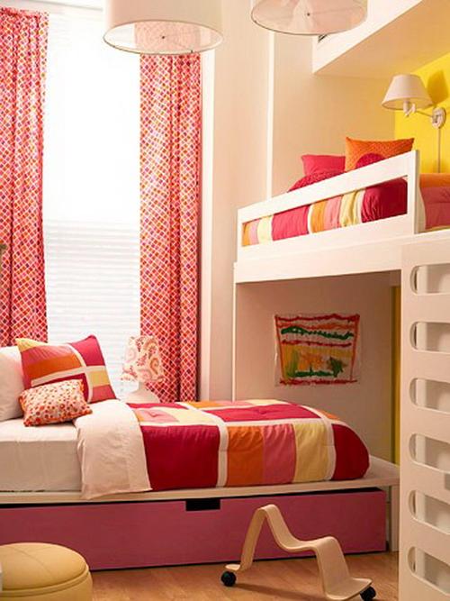 интерьер детской комнаты розовый