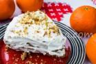 Апельсиновый торт с творожным кремом