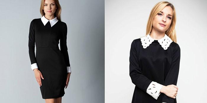 Купить Черное Школьное Платье С Белым Воротником